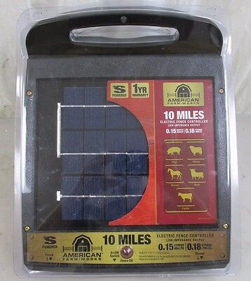 American Farm Works 10 Mile Solar Electric Fence Controller Charger
