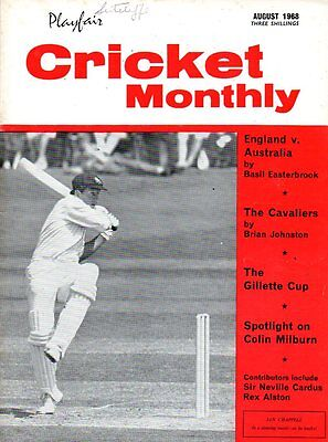 Playfair Cricket Monthly Magazine August 1968 ENGLAND v AUSTRALIA 2ndTEST