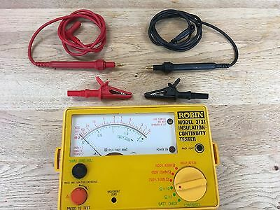 ROBIN 3131 INSULATION CONTINUITY TESTER with leads