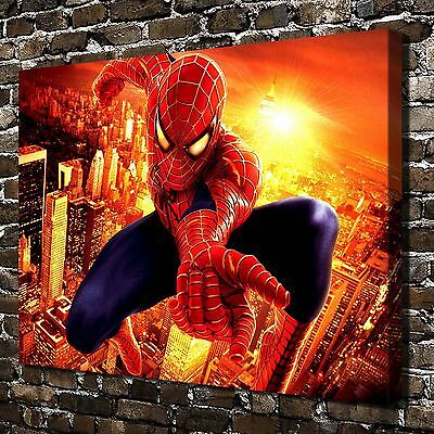 Captain america spider man hd canvas print home decor paintings wall art picture cad - Marvel comics decor ...