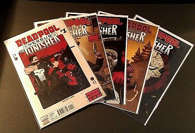 Deadpool vs The Punisher 1-5 Complete Set NM