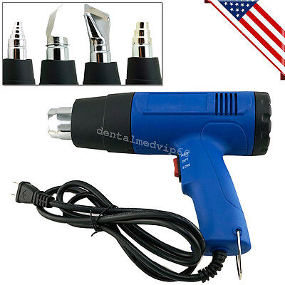 110V Heat Gun Hot Air Wind Blower Dual Temperature + 4 Nozzles Power Heater Gun