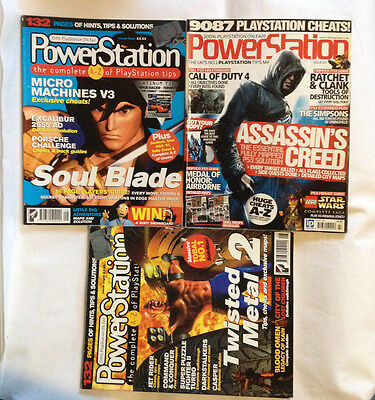 PowerStation Magazines issues # 8, 9, 147 - FREE UK Post - PS1 PS2  - bundle