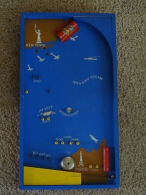 Antique Pinball: Lindbergh's Aerorace Game; based on his solo Atlantic crossing
