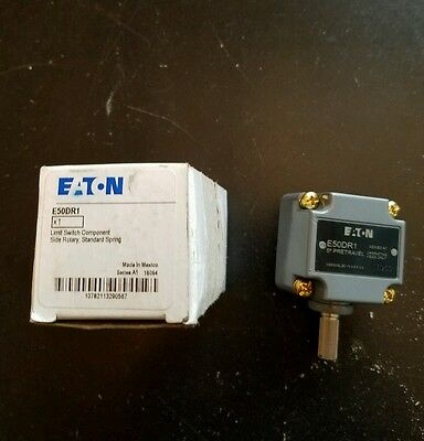 NEW IN BOX GENUINE EATON CUTLER HAMMER Side Rotary E50 Limit Switch Head E50DR1