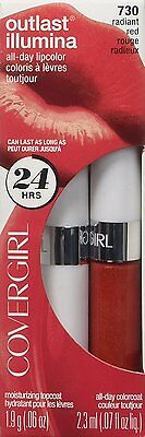 COVERGIRL Outlast Illumia All-Day Moisturizing Lip Color, #730 Radiant Red
