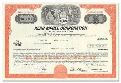 Kerr-McGee Corporation Stock Certificate