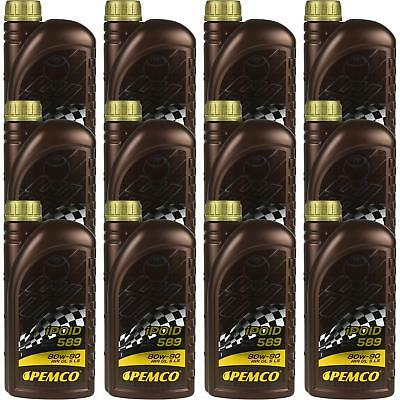 12x1 LITRE GENUINE Pemco Transmission Oil ipoid 589 80W-90 Gear Oil Oil