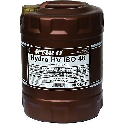 10 Litre ORIGINAL Pemco HUILE HYDRAULIQUE Hydro HV ISO 46 HKP 68 huile