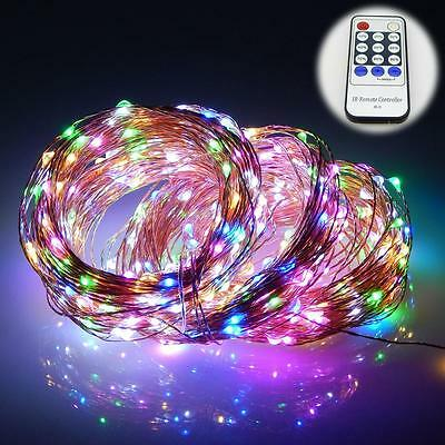 LED String Party Light Christmas Fairy Decor Copper Wire Remote Control 500 Leds