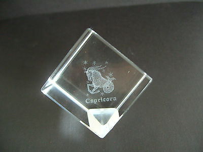 Capricorn Star Sign Laser Crystal Cube