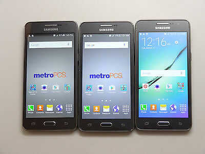 Lot of 3 Samsung Galaxy Grand Prime Metro PCS Smartphones AS-IS GSM