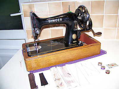 Vintage 1953 Singer 99K Semi Industrial Hand Sewing Machine,leather,serviced