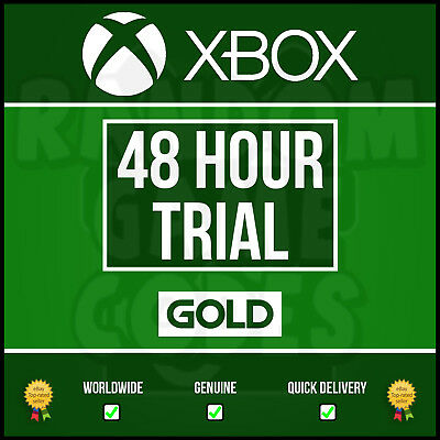 Xbox Live 2 Day (48Hr) 48 Hours Gold Trial Code - Fast Delivery