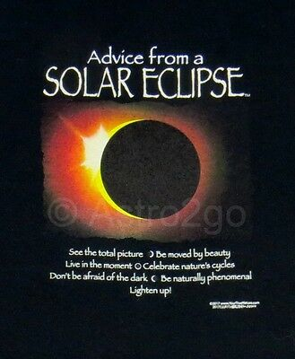 ADVICE FROM A SOLAR ECLIPSE-Astronomy Earth Sun Moon Science T Shirt S-2XL NEW!