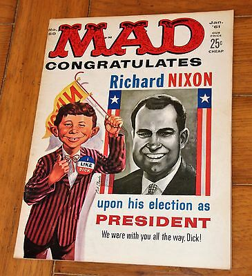 Mad Magazine  #60  VG/Fine  5.0 January 1961 Nixon/Kennedy Double Cover