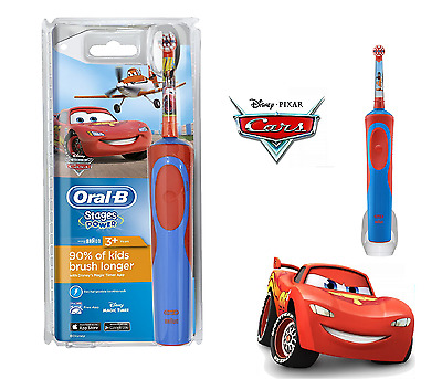 Oral-B Stages Power Vitality Disney CARS Electric Rechargeable Kids Toothbrush.