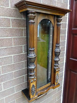 Antique Double- Weighted Vienna Clock Cabinet,Walnut. In good condition.