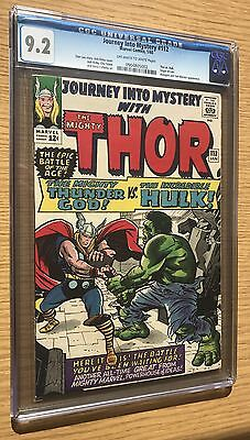 Journey Into Mystery 112 CGC 9.2 ow/w pages THOR vs HULK!