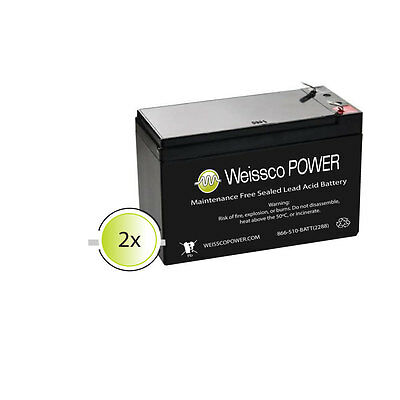 UPG 2 Pack - 12V 9Ah Electric Scooter Battery for 7Ah Razor W15130412003 F2