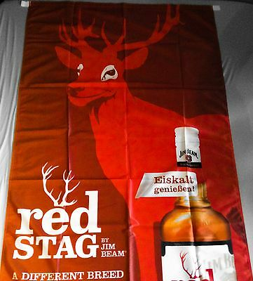 RED STAG by Jim Beam XXL Fahne Banner Flagge Party 1,93 x 0,98 m NEU&OVP selten