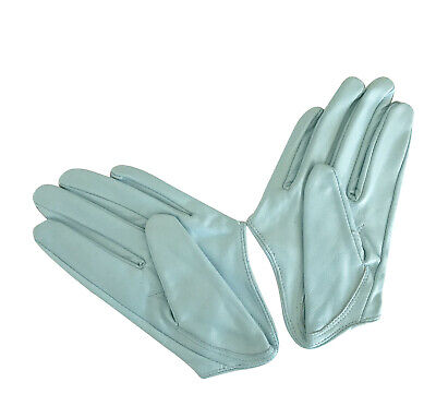 Ladies/Womens Leather Driving Gloves - Blue