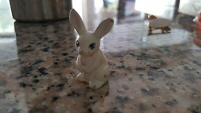 miniature rabbit figurine dollhouse mini