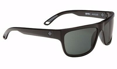 837d7d3f3b Spy Angler Sunglasses - Shiny Black - Happy Grey Green Polar - New