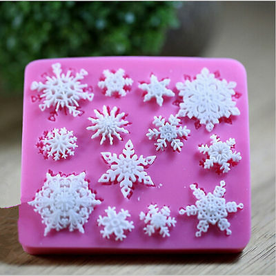 1pcs Snowflake Cutter Mold Sugarcraft Fondant Cake Decorating Kitchen Tool