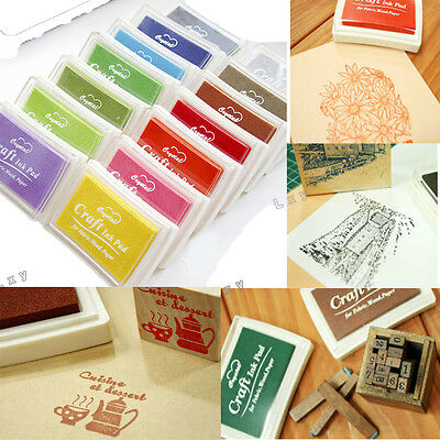 DIY Oil Based Multi Colour Ink Pad For Rubber Stamps Paper Wood Craft  Fabric