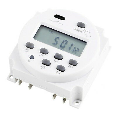 New LCD Digital Power Programmable Timer AC 12V 16A 4.4VA Time Relay Switch  VE
