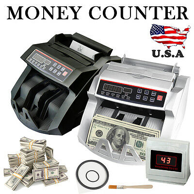 Money Cash Counting Bill Counter Bank Counterfeit Detector UV & MG Machine US
