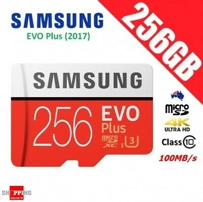 Samsung EVO Plus 256GB micro SD SDXC Memory Card UHS-I U3 100MB/s 4K Ultra HD