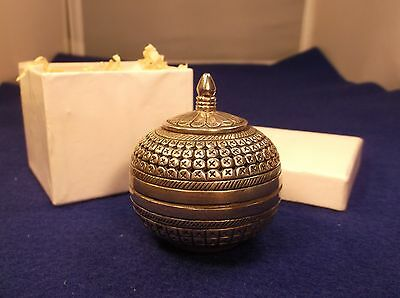 Amazing Vtg Antique? Hand Tooled Sterling Silver Fragrance Trinket Jewelry Box
