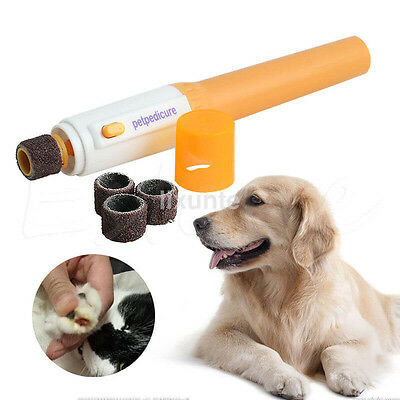 Electric Dog Cat Pet Claw Toe Nail Trimmer Tool Care Grooming Grinder Clipper US