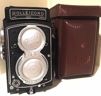 RARE- 1954 Vintage Rollei Rolleicord TLR camera, Xenar lens 3,5/75mm + case