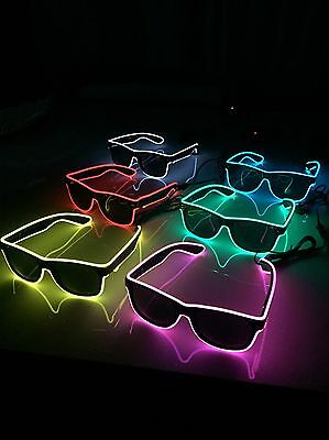Cool Party Bag Fillers - 30 x Pairs Of Neon LED Light Up Sunglasses Job Lot