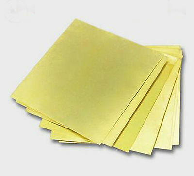 1pcs 1mm*100mm*100mm H62 Metal Brass Copper Plate Sheet Block Slice #A319b