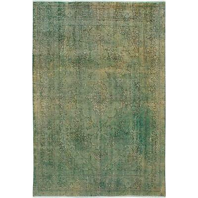 """Attractive Green Persian Overdyed Rug - 6'8"""" x 9'11"""""""