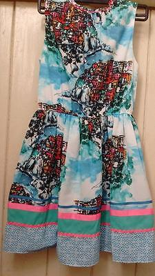 BNWT NEXT girls sleeveless print fully lined dress age 11 years, 146cm