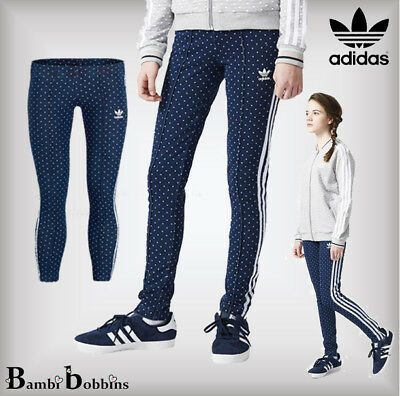 Adidas Originals Denim Polka Dot Leggings Jeans 4-5-6-7-8-9-10 Years Girls