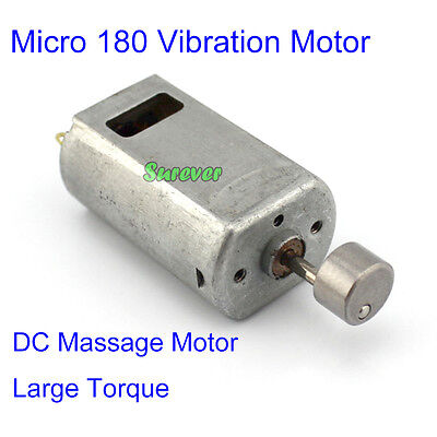 Micro DC 3V~6V 18000RPM 180 Strong Vibration Motor Metal Vibrating Head Massager