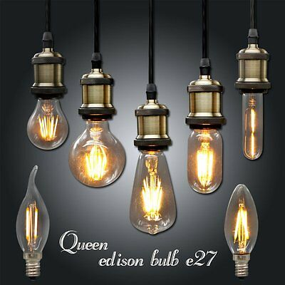 Ampoule Vintage LED Edison Light Bulb E27 E14 220V Retro Lamp DIY Filament Lamps