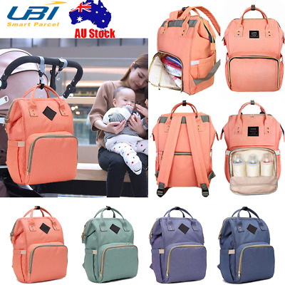 Multifunctional Baby Diaper Nappy Backpack Maternity Large Mummy Baby Bag AU