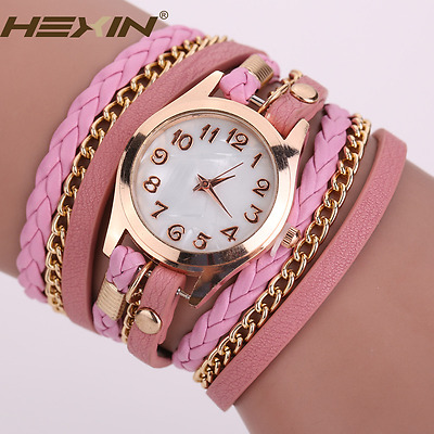 Leather Ring Fashion Watches Colorful Women Watch Birthday Girfts Wristwatch New