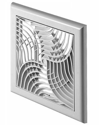Modern Design Wall Ventilation Grille Cover With Net and Shutter 150x150mm