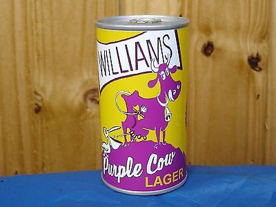 NEW ~ Williams Purple Cow Pelican Beer Can - Sealed Empty - Replica Paper Label