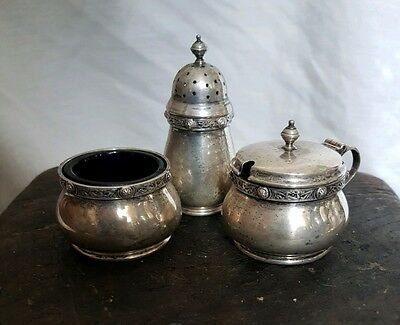 Hallmarked Silver Condiment Set Bargain