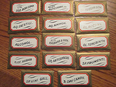 Original, Unused Old Pharmacy / Apothecary Bottle Labels Lot