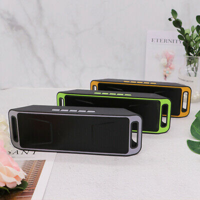 US Portable Wireless Bluetooth Speaker USB Flash FM Radio Stereo Bass MP3 Player